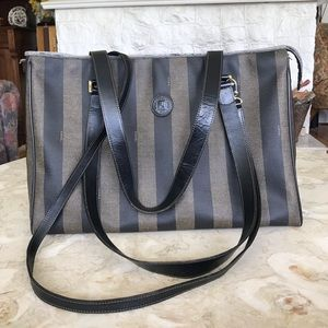 Authentic FENDI Pequin Large Tote Bag
